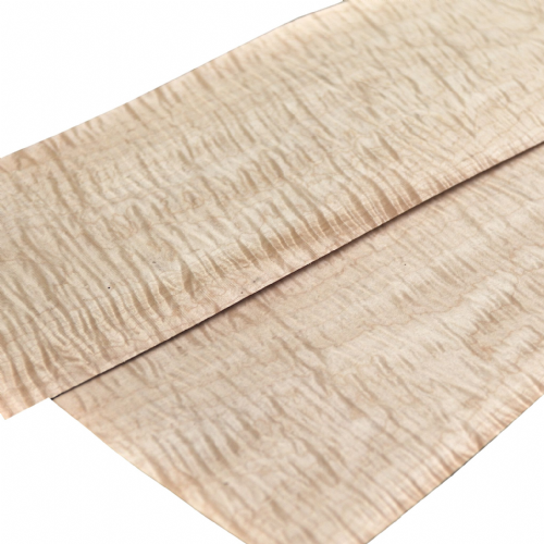 "Quilted Maple<br />Set of 2 leafs:<br />22"" x 4.5"" ( 56 x 12 cm )"